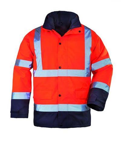 Roadway 4/1-ben többfunkciós fluo narancs télikabát (pulóver, mellény, átmeneti és télikabáttá alakítható)