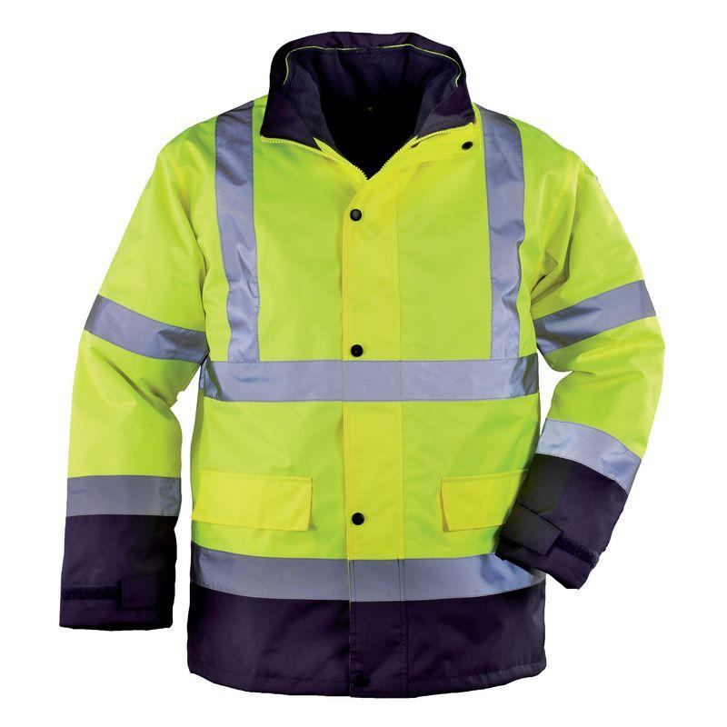 Roadway 4/1-ben többfunkciós fluo citrom télikabát (pulóver, mellény, átmeneti és télikabáttá alakítható)