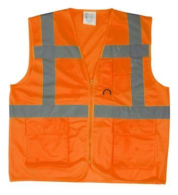 YARD Többzsebes Fluo narancs mellény