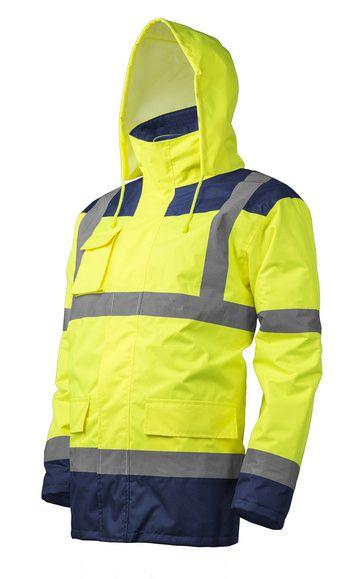KANATA 4/1 HI-VIZ Kabát, sárga/kék színben