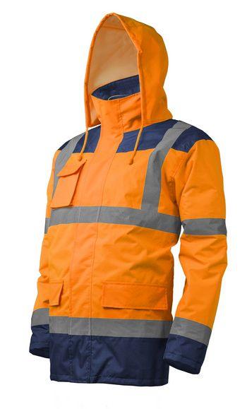 KANATA 4/1 HI-VIZ Kabát, narancs/kék színben