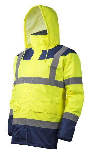KETA Jólláthatósági védőkabát sárga-kék színben