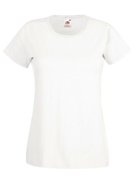 Fruit of the Loom Lady-Fit Valueweight T - 100% pamut póló white - 165g/m2 vastag
