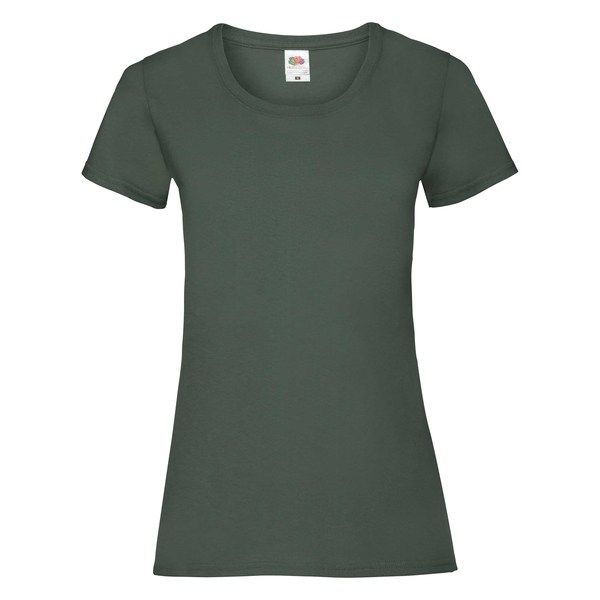 Fruit of the Loom Lady-Fit Valueweight T - 100% pamut póló bottle green - 165g/m2 vastag