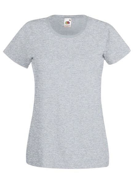 Fruit of the Loom Lady-Fit Valueweight T - 100% pamut póló heather grey - 165g/m2 vastag