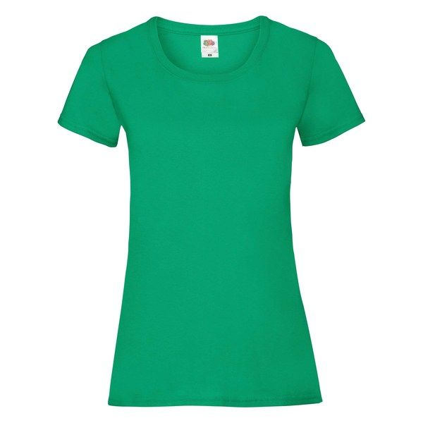 Fruit of the Loom Lady-Fit Valueweight T - 100% pamut póló kelly green - 165g/m2 vastag