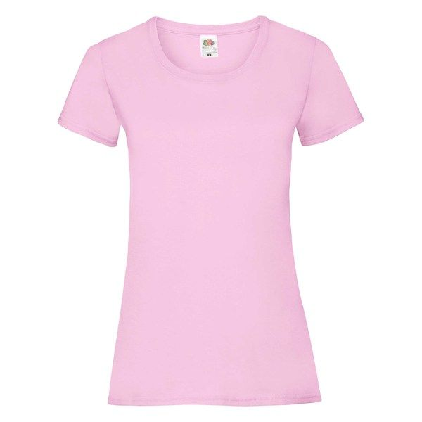 Fruit of the Loom Lady-Fit Valueweight T - 100% pamut póló light pink - 165g/m2 vastag