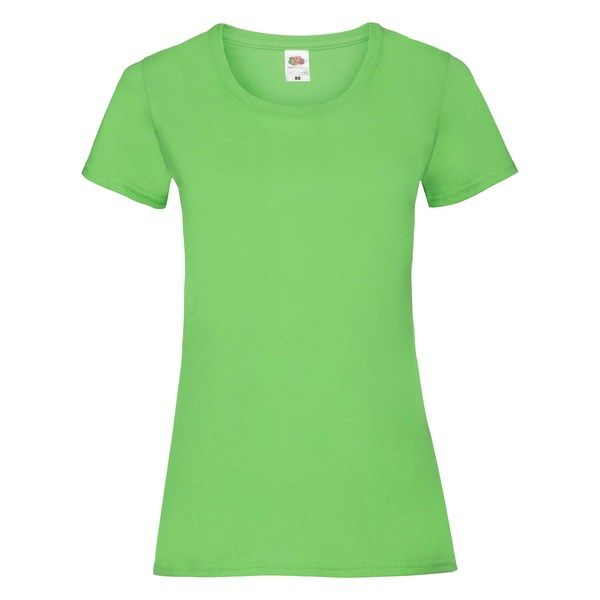 Fruit of the Loom Lady-Fit Valueweight T - 100% pamut póló lime - 165g/m2 vastag