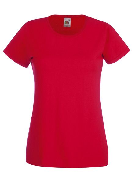 Fruit of the Loom Lady-Fit Valueweight T - 100% pamut póló red - 165g/m2 vastag