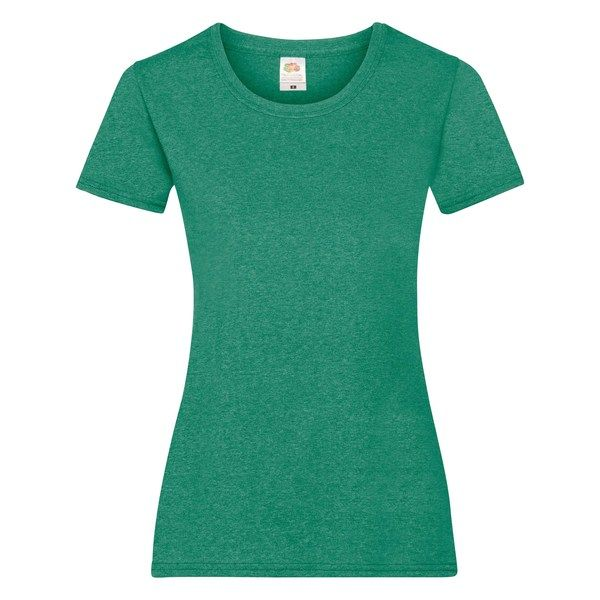 Fruit of the Loom Lady-Fit Valueweight T - 100% pamut póló retro heather green - 165g/m2 vastag