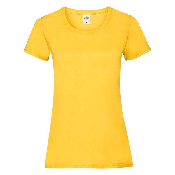 Fruit of the Loom Lady-Fit Valueweight T - 100% pamut póló sunflower - 165g/m2 vastag
