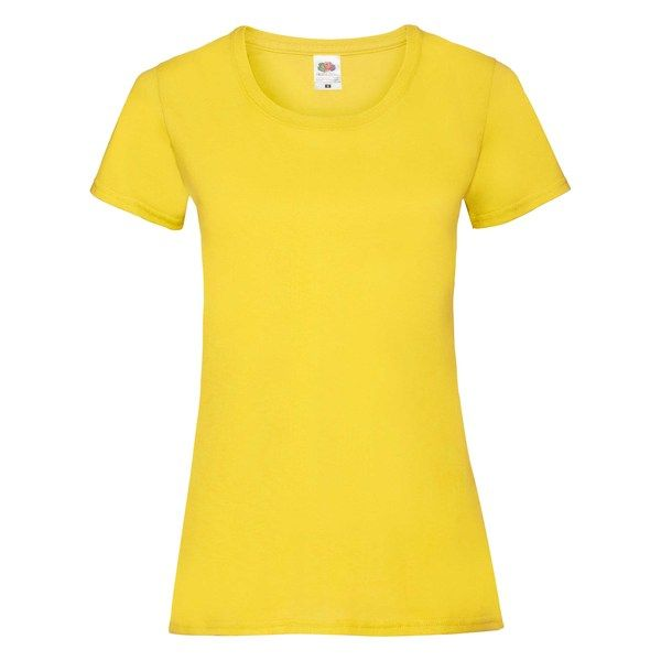Fruit of the Loom Lady-Fit Valueweight T - 100% pamut póló yellow - 165g/m2 vastag