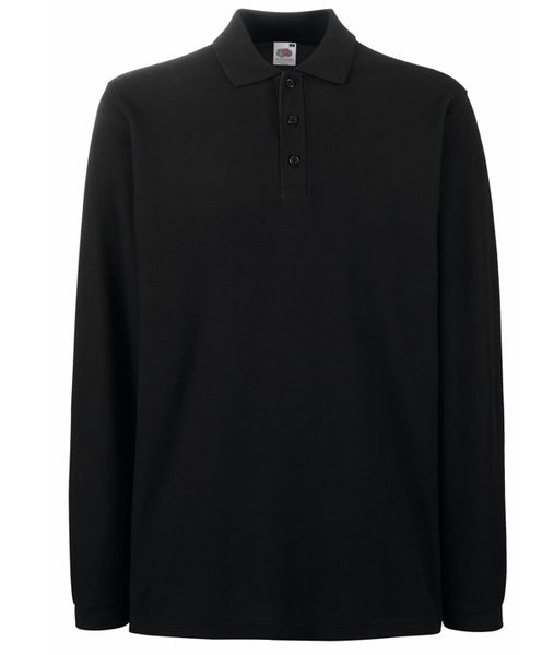 6456dcfc2c Fruit of The Loom Premium Long Sleeve - 100% pamut galléros hosszú ujjú  póló black
